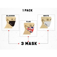 RAXID FACE MASKS PACK OF 3